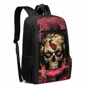 3D Skull Cardinals Travel Laptop Backpack 17 IN-Heroinhere