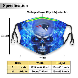 3D Skull Patriots Anti-infective Polyester Face Mask With Filter-Heroinhere