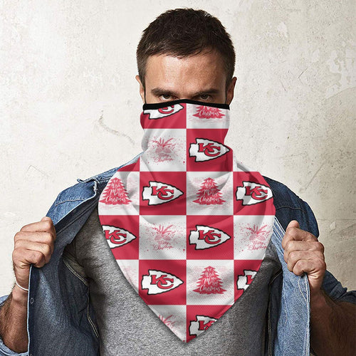 Chiefs Team Ugly Christmas Obacle Seamless Bandana Rave Face Mask-Heroinhere