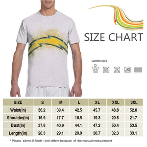Chargers Logo T Shirts For Men-Heroinhere