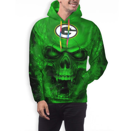 3D Skull Packers Hoodies For Men Pullover Sweatshirt-Heroinhere