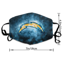 Load image into Gallery viewer, Chargers Illustration Art Anti-infective Polyester Face Mask-Heroinhere