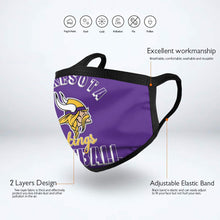 Load image into Gallery viewer, Vikings Football Team Anti-infective Polyester Face Mask-Heroinhere