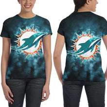 Load image into Gallery viewer, Dolphins Illustration Art T Shirts For Women-Heroinhere