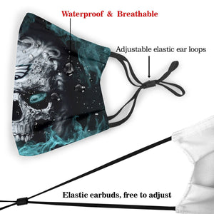 3D Skull Eagles Anti-infective Polyester Face Mask With Filter-Heroinhere