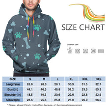 Load image into Gallery viewer, Bons And Foot Prints Hoodies For Men Pullover Sweatshirt-Heroinhere