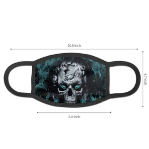 QIANOU66 3D Skull Eagles Anti-infective Polyester Face Mask-Heroinhere