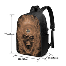 Load image into Gallery viewer, 3D Skull Saints Travel Laptop Backpack USB Backpack 17 IN-Heroinhere