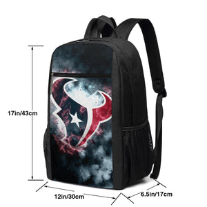 Texans Illustration Art Travel Laptop Backpack 17 IN-Heroinhere