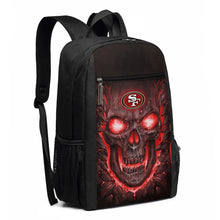 Load image into Gallery viewer, 49ers Skull Lava Travel Laptop Backpack 17 IN-Heroinhere