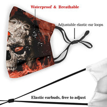 Load image into Gallery viewer, 3D Skull Browns Anti-infective Polyester Face Mask With Filter-Heroinhere