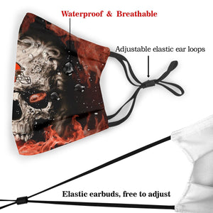 3D Skull Browns Anti-infective Polyester Face Mask With Filter-Heroinhere