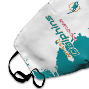 Dolphins Team Anti-infective Polyester Face Mask-Heroinhere