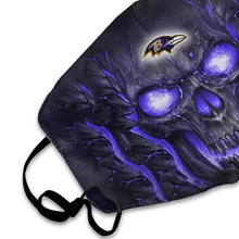 Load image into Gallery viewer, QIANOU66 Skull Lava Ravens Anti-infective Polyester Face Mask-Heroinhere