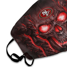 Load image into Gallery viewer, QIANOU66 Skull Lava 49ers Anti-infective Polyester Face Mask-Heroinhere