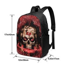 Load image into Gallery viewer, 3D Skull Buccaneers Travel Laptop Backpack USB Backpack 17 IN-Heroinhere