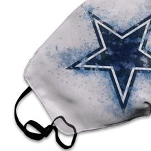Load image into Gallery viewer, Cowboys Logo Anti-infective Polyester Face Mask-Heroinhere