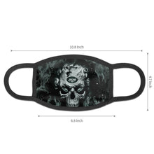 Load image into Gallery viewer, QIANOU66 3D Skull Jets Anti-infective Polyester Face Mask-Heroinhere