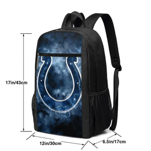 Colts Illustration Art Travel Laptop Backpack 17 IN-Heroinhere