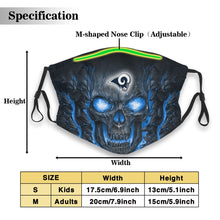 Load image into Gallery viewer, Rams Skull Lava Anti-infective Polyester Face Mask With Filter-Heroinhere