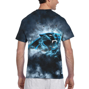 Panthers Illustration Art T Shirts For Men-Heroinhere