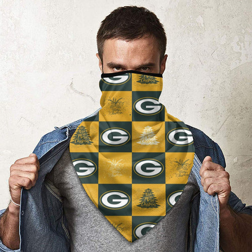 Packers Team Ugly Christmas Obacle Seamless Bandana Rave Face Mask-Heroinhere