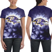 Load image into Gallery viewer, Ravens Illustration Art T Shirts For Women-Heroinhere