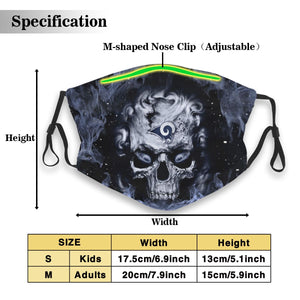 3D Skull Rams Anti-infective Polyester Face Mask With Filter-Heroinhere
