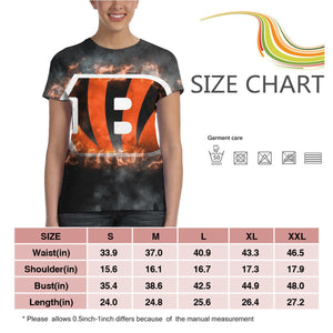 Bengals Illustration Art T Shirts For Women-Heroinhere