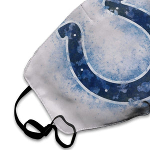 Colts Logo Anti-infective Polyester Face Mask-Heroinhere