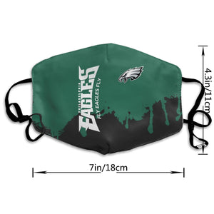 Eagles Team Anti-infective Polyester Face Mask-Heroinhere