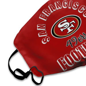 49ers Football Team Anti-infective Polyester Face Mask-Heroinhere