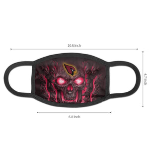 QIANOU66 Skull Lava Cardinals Anti-infective Polyester Face Mask-Heroinhere