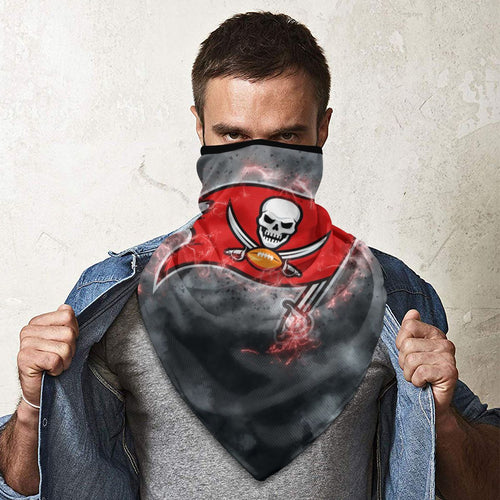 Buccaneers Illustration Art Obacle Seamless Bandana Rave Face Mask-Heroinhere