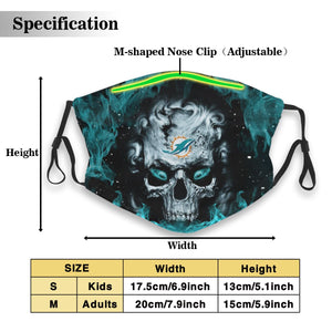 3D Skull Dolphins Anti-infective Polyester Face Mask With Filter-Heroinhere