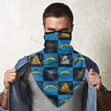 Load image into Gallery viewer, Chargers Team Ugly Christmas Obacle Seamless Bandana Rave Face Mask-Heroinhere