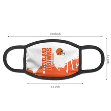 Load image into Gallery viewer, Browns Team Anti-infective Polyester Face Mask-Heroinhere