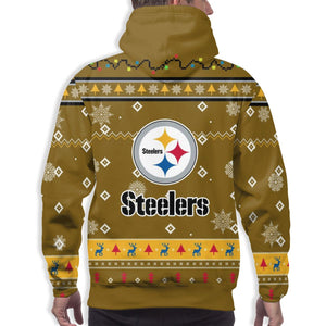 Steelers Team Christmas Ugly Hoodies For Men Pullover Sweatshirt-Heroinhere