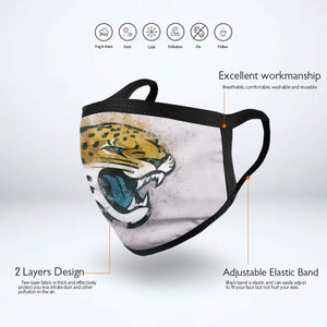 Jaguars Logo Anti-infective Polyester Face Mask-Heroinhere
