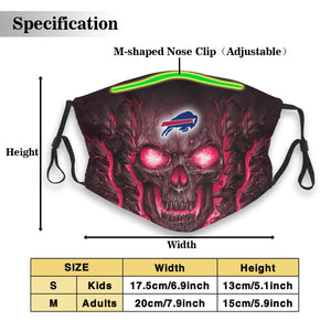 Bills Skull Lava Anti-infective Polyester Face Mask With Filter-Heroinhere