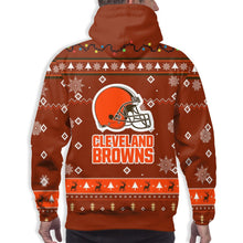 Load image into Gallery viewer, Browns Team Christmas Ugly Hoodies For Men Pullover Sweatshirt-Heroinhere