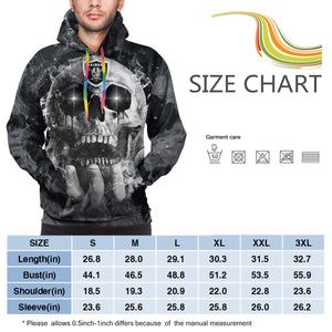 QIANOU66 3D Skull Raiders Hoodies For Men Pullover Sweatshirt-Heroinhere