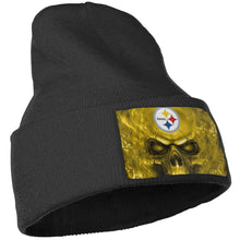 Load image into Gallery viewer, 3D SKull Steelers Knit Hat Cap-Heroinhere