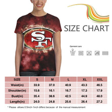 Load image into Gallery viewer, 49ers Illustration Art T Shirts For Women-Heroinhere