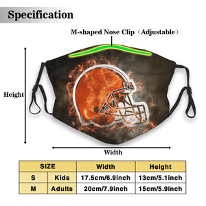 Browns Illustration Art Anti-infective Polyester Face Mask With Filter-Heroinhere
