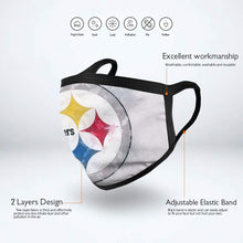 Load image into Gallery viewer, Steelers Logo Anti-infective Polyester Face Mask-Heroinhere