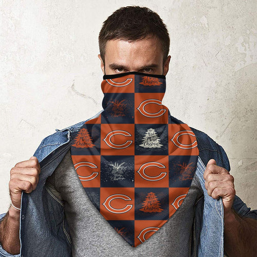 Bears Team Ugly Christmas Obacle Seamless Bandana Rave Face Mask-Heroinhere
