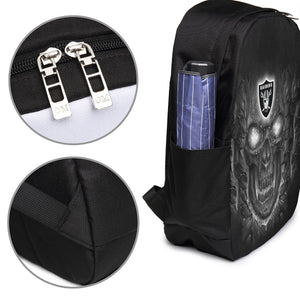 Raiders Skull Lava Travel Laptop Backpack USB Backpack 17 IN-Heroinhere