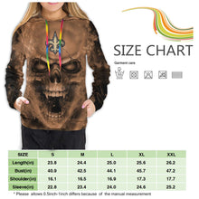 Load image into Gallery viewer, 3D Skull Saints Hoodies For Women Pullover Sweatshirt-Heroinhere