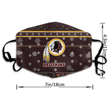 Load image into Gallery viewer, Redskins Team Christmas Ugly Anti-infective Polyester Face Mask-Heroinhere